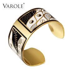 copper bangle bracelet images Varole 36mm width gold color colorful copper bangles bracelets jpg