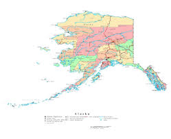 map of alaska cities maps of alaska state collection of detailed maps of alaska state