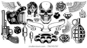 guns skull stock images royalty free images vectors