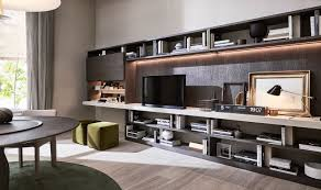 Modular Wall Units Contemporary Tv Wall Unit Wooden Glass Modular 505 By