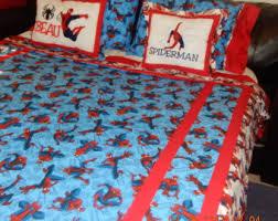 Spiderman Double Duvet Spiderman Bedding Etsy
