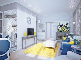 interior home accessories blue and yellow home decor