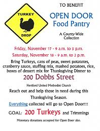 turkey drop hertford umc sponsoring open door beacon