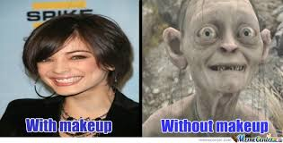 No Makeup Meme - women with without makeup by isley of the north meme center