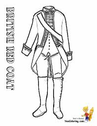british red coat soldier coloring page american revolution