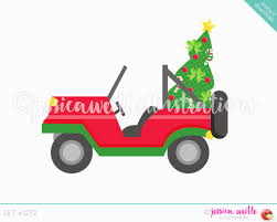jeep christmas ornament instant download christmas jeep clip art cute digital