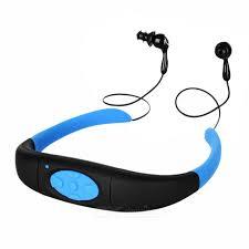 headband mp3 usb 2 0 headband waterproof ipx8 mp3 w 4gb memory black blue