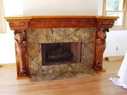 wooden fireplace binhminh decoration