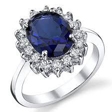 verlobungsring gr e verlobungsring kate middleton sterling silber 925 zirkonia blau