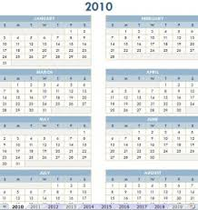 printable calendar year on one page 2010 2019 printable calendar 2010 19 printable calendar
