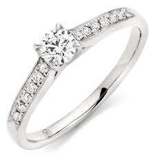 engagement ring solitaire 18ct white gold solitaire ring 0000174 beaverbrooks