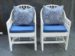 Chinese Chippendale Chair by Vintage White And Blue Rattan Chinese Chippendale Chairs Pair F