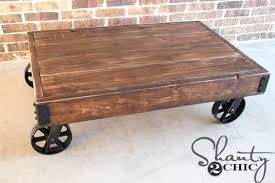 industrial coffee table with wheels coffee table on wheels wiredmonk me