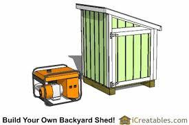 generator shed plans portable generator enclosure designs