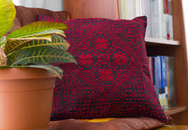 cushion covers for sofa pillows cross stitch pillow cover geometrical red and black cushion