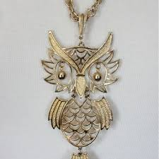 vintage owl necklace jewelry images Shop 70s vintage jewelry on wanelo jpg