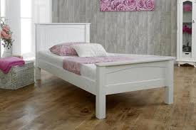 White Wood Single Bed Frame Solid Wood Bed Frames The Oak Bed Store