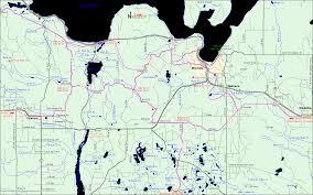 R Train Map Michigan Snowmobiling Munising Au Train Snowmobile Trail Map