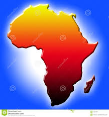 The Map Of Africa The Map Of Africa Stock Image Image 1231391