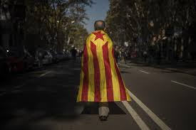 Barcelona Spain Flag The Latest Hundreds Against Independence Rally In Barcelona