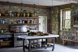 kitchen awesome rustic industrial restaurant design cabin