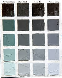 shades of grey paint understanding black colours this chart takes each and mixes them