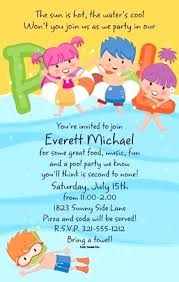 swim party invitations packed with like this item pool party