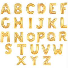 gold letter balloons 16 inch gold silver alphabet letters balloons wedding baby