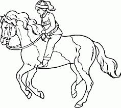 Coloriage cheval de course  1001 Animaux