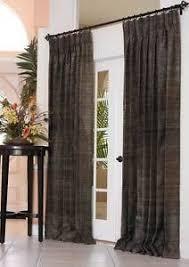 Drapery Panels 96 Silk Drapery Panel 96 Inch Long 75 Inch Wide Each Panel Black