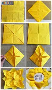 paper napkin flower tutorial paper napkin folding with sunflower table decorations