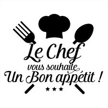 le chef en cuisine sticker cuisine le chef vous souhaite bon appé