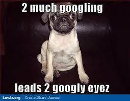 Depressed Pug Meme - 2 much googling leads 2 googly eyez pugs pugs pinterest pug