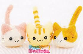 diy handmade wool felt kit three cat japanese kit