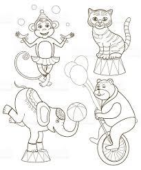 cheerful circus animals stock vector art 616005994 istock