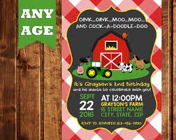 farm invitations mcdonald invitations country birthday