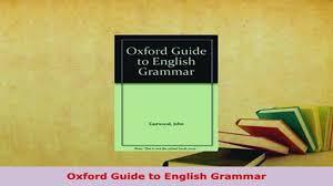 download oxford guide to english grammar pdf book free video