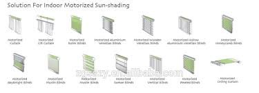 Electric Curtains And Blinds Customized Size Best Price Window Blinds Ready Made Electric