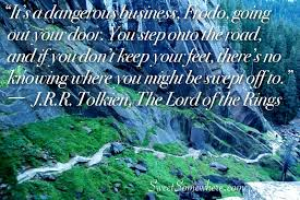 a quote about adventure from the lord of the rings
