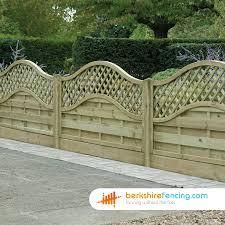 omega lattice top fence panels 6ft x 6ft brown berkshire fencing