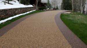 Pea Gravel Concrete Patio by River Rock Flooring For Concrete Basement Floors U0026 More Mckinnon