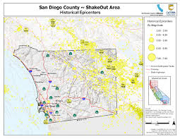 Montana Counties Map by The Great California Shakeout San Diego County Earthquake Hazards