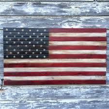 How To Paint American Flag Rustic Wood American Flag Art