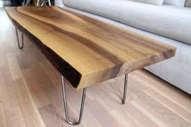 live edge walnut coffee table sold live edge solid walnut coffee table on hairpin legs