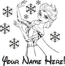 Princess Wall Decals For Nursery by Aliexpress Com Buy Free Shipping Princess Elsa Custom Name Wall
