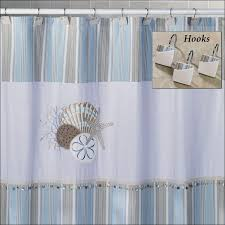 Seashell Curtains Bathroom Bathroom Fabulous Seashell Fabric Nautical Shower Curtains Sale