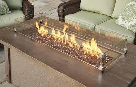 Propane Fire Pit Glass Pine Ridge 1242 Linear Fire Pit Table Fire Pits Fire Pits
