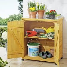 armadietto da balcone armadietto da esterno in legno con piano lavoro per giardinaggio