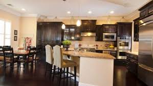 Marble Kitchen Countertops Impressive Open Space Kitchen Design With White Kitchen Island
