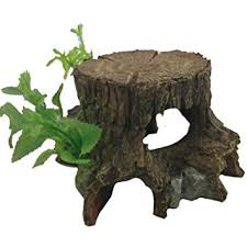 aquarium fish tank ornament tree stump cave plant co uk